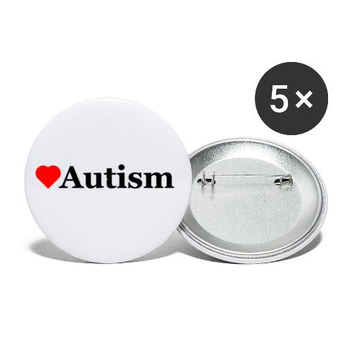 Heart Autism b - Buttons small 1'' (5-pack)