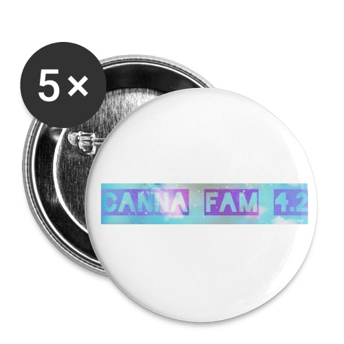 Canna fams #3 design - Buttons small 1'' (5-pack)