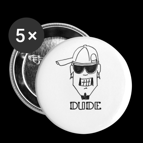 Dude Head 2 - Buttons small 1'' (5-pack)