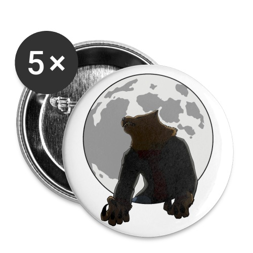 Howling Lupus - Buttons small 1'' (5-pack)