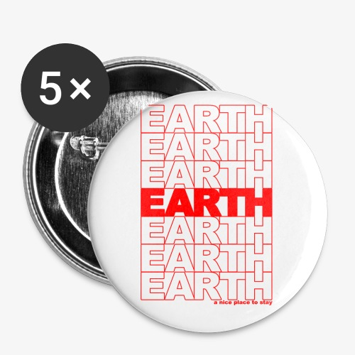 earth - take out - Small Buttons