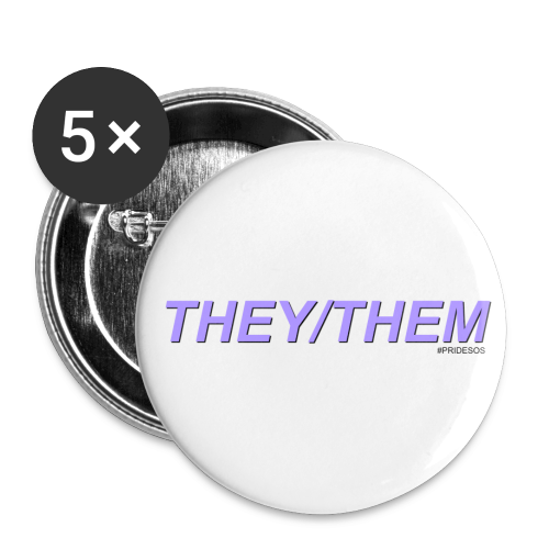 THEY/THEM PRONOUNS - Small Buttons