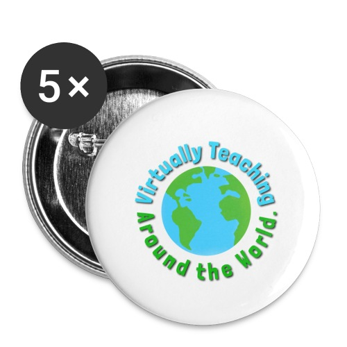Virtually teaching Around the World - Small Buttons