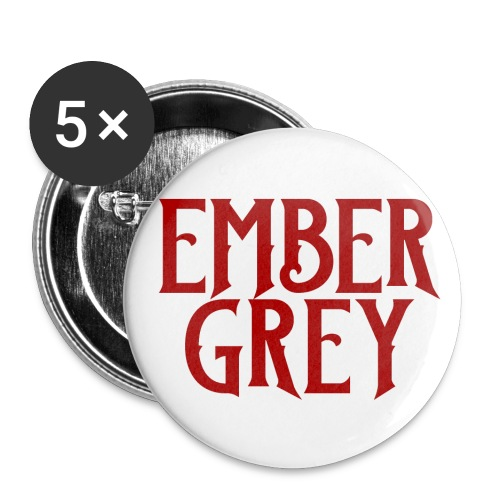 Ember Grey Name Plate - Buttons small 1'' (5-pack)