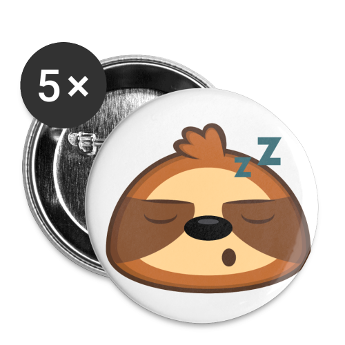 Three-Toed Sloth Buttons - Sleepy - Buttons small 1'' (5-pack)