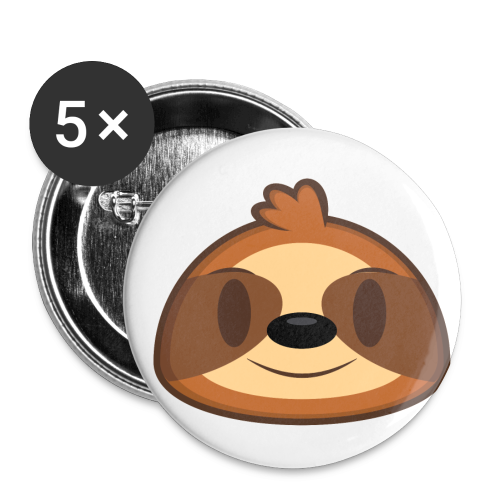 Three-Toed Sloth Buttons - Buttons small 1'' (5-pack)