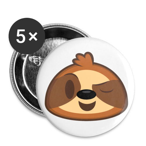 Three-Toed Sloth Buttons - Wink - Buttons small 1'' (5-pack)