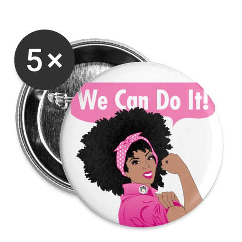 GlobalCouture2 WeCanDoItBreastCancer Poster RGB pn - Buttons small 1'' (5-pack)