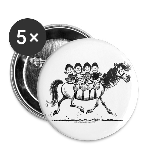Gang of four Thelwell Cartoon - Buttons small 1'' (5-pack)
