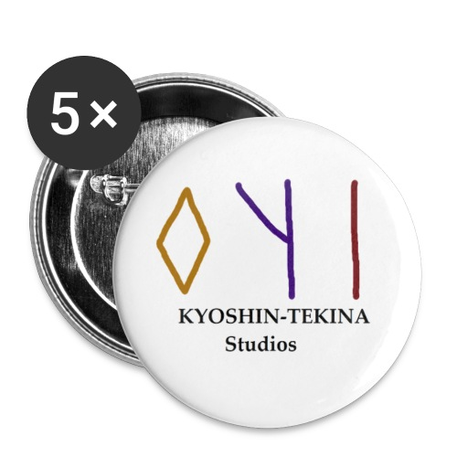 Kyoshin-Tekina Studios logo (black test) - Buttons small 1'' (5-pack)