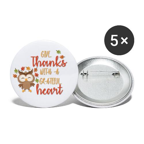 Give Thanks - Buttons small 1'' (5-pack)