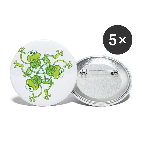 Frogs having fun when rotating in a pattern design - Buttons small 1'' (5-pack)