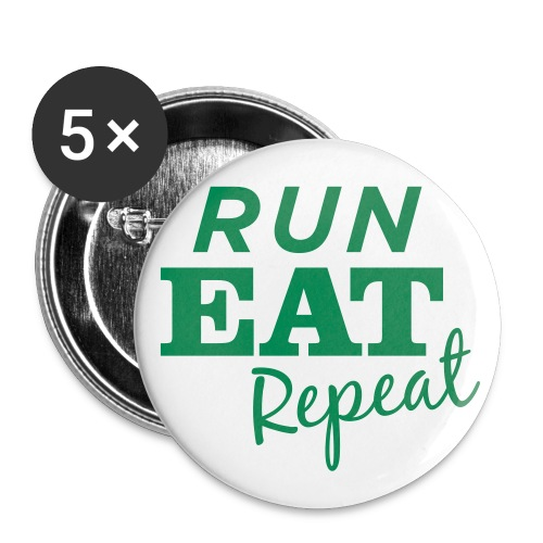 Run Eat Repeat buttons medium - Buttons small 1'' (5-pack)