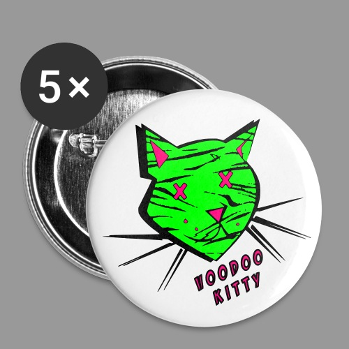 Voodoo Kitty - Buttons small 1'' (5-pack)
