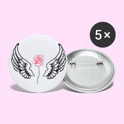 rose flight - Buttons small 1'' (5-pack)