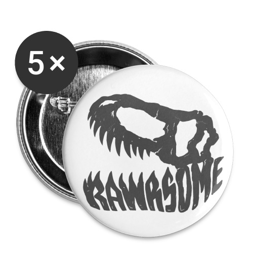 RAWRsome T Rex Skull by Beanie Draws - Buttons small 1'' (5-pack)