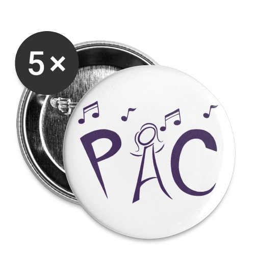 PAC Logo Purple - Buttons small 1'' (5-pack)