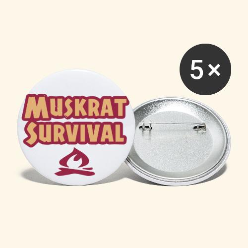 Muskrat Survival text - Buttons small 1'' (5-pack)