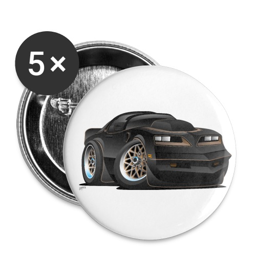 Seventies Classic Muscle Car Cartoon - Small Buttons