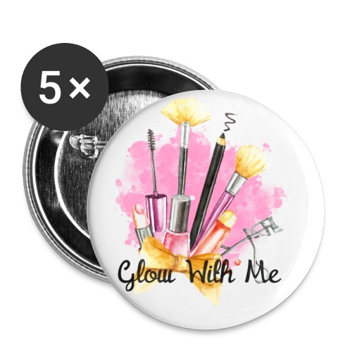 Glow With Me Makeup Logo - Buttons small 1'' (5-pack)