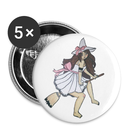 cute witchy girl - Buttons small 1'' (5-pack)