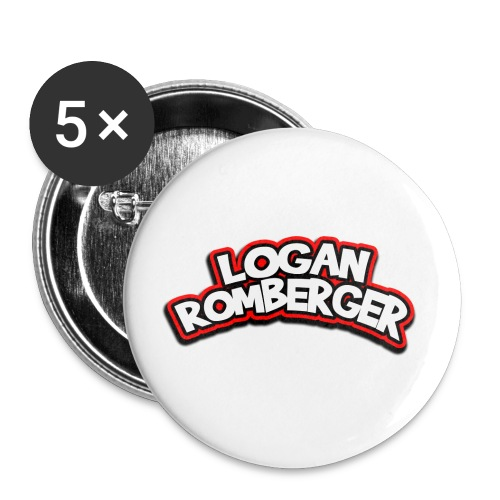 Logan Romberger Comic Logo - Small Buttons