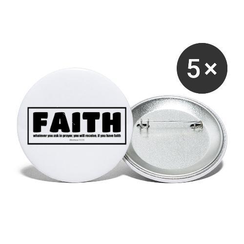 Faith - Faith, hope, and love - Buttons small 1'' (5-pack)