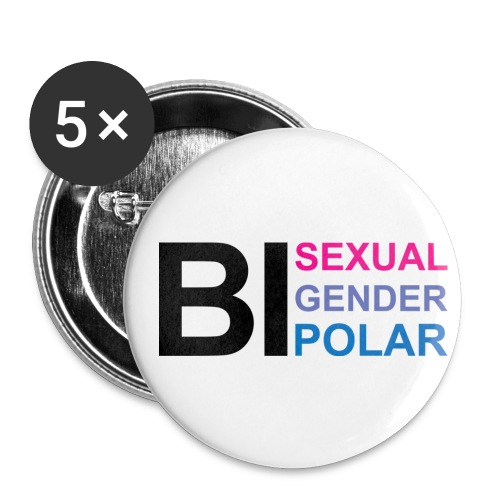 Bi Everything - Buttons small 1'' (5-pack)
