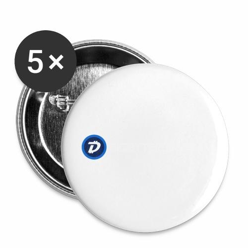 Digibyte online light - Buttons small 1'' (5-pack)