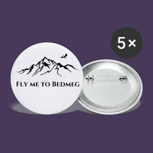 Fly Me To Bedmeg (black) - Buttons small 1'' (5-pack)
