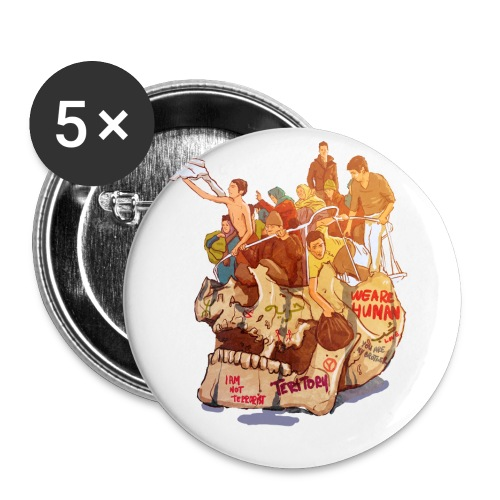 Skull & Refugees - Buttons small 1'' (5-pack)