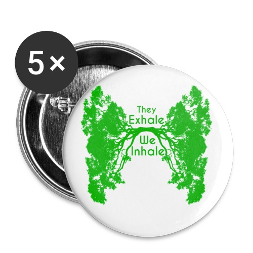 InhaleExhaleGreen - Buttons small 1'' (5-pack)