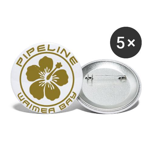 Pipeline at Waimea Bay-North Shore of Oahu, Hawaii - Buttons small 1'' (5-pack)