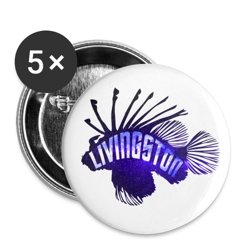 Picard's fish Livingston - Buttons small 1'' (5-pack)