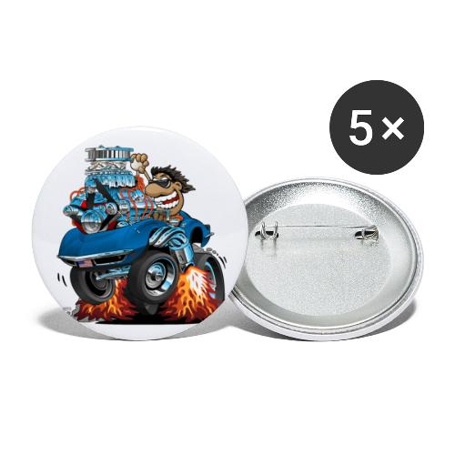Classic '69 American Sports Car Cartoon - Buttons small 1'' (5-pack)