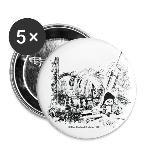 PonyFail Thelwell Cartoon - Buttons small 1'' (5-pack)