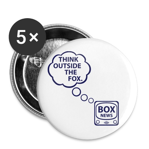 Think Outside the Fox - Buttons small 1'' (5-pack)