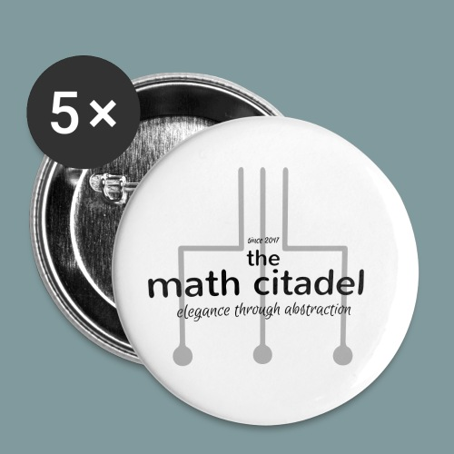 Abstract Math Citadel - Buttons small 1'' (5-pack)