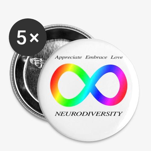Embrace Neurodiversity - Buttons small 1'' (5-pack)