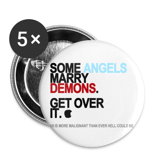 some angels marry demons lg transparent - Buttons small 1'' (5-pack)