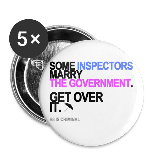some inspectors marry the government lg - Buttons small 1'' (5-pack)