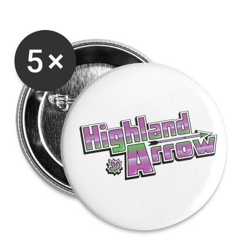 Highland Arrow Logo - Buttons small 1'' (5-pack)