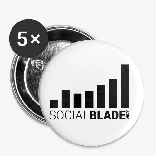 Social Blade - Dark - Buttons small 1'' (5-pack)