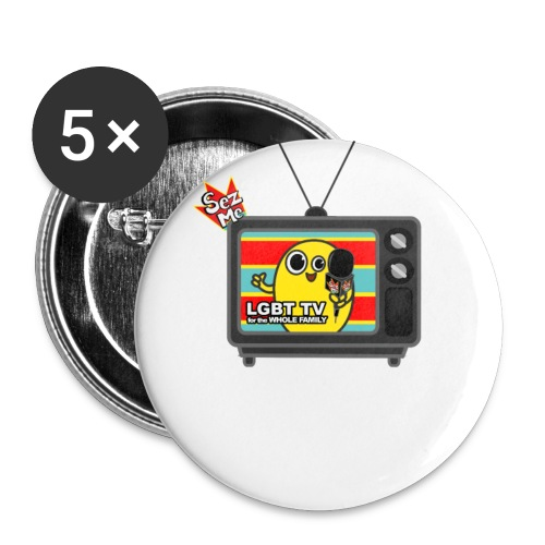 Old TV shhirt png - Buttons small 1'' (5-pack)