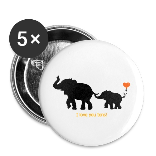 I Love You Tons! - Buttons small 1'' (5-pack)