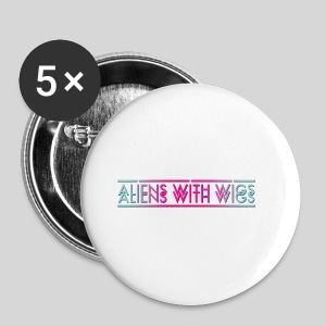 ALIENS WITH WIGS - Logo - Small Buttons