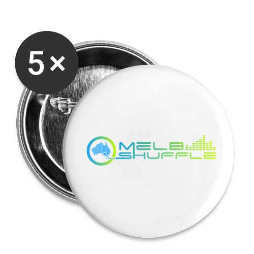 Melbshuffle Gradient Logo - Buttons small 1'' (5-pack)