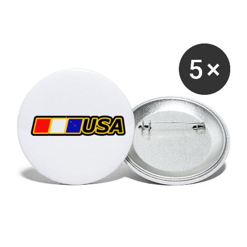 USA - Buttons small 1'' (5-pack)