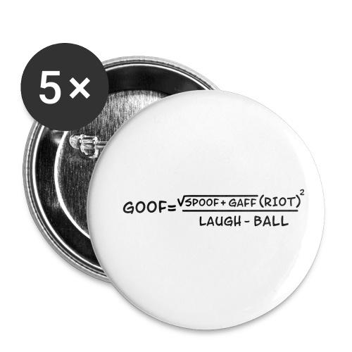 gaff text transparent - Buttons small 1'' (5-pack)