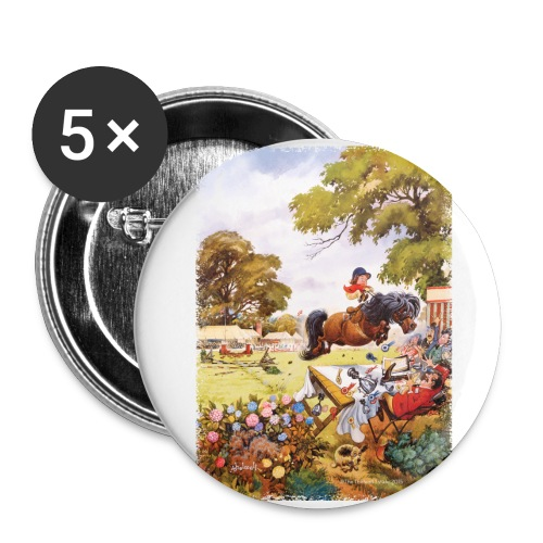 PonyTournament Thelwell Cartoon - Buttons small 1'' (5-pack)